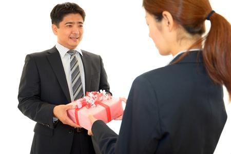 salaried worker: Smiling businessman Stock Photo