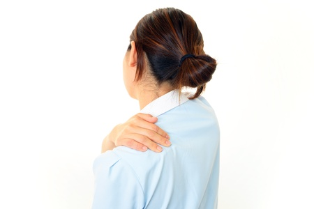 The nurse who worries about the pain of the shoulder  photo