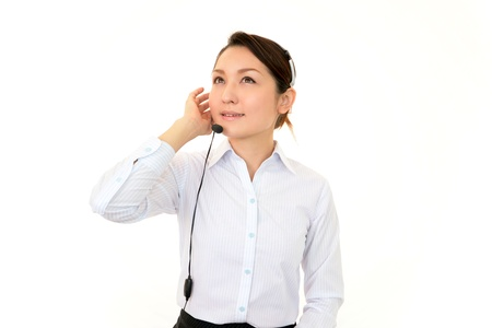 customer services operator Stock Photo - 17328815