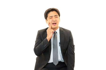 salaried worker: Expression of melancholy businessman