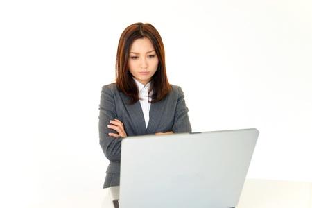 Stressed Business Woman 免版税图像
