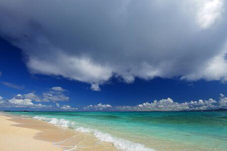 Beautiful beach in Okinawa photo
