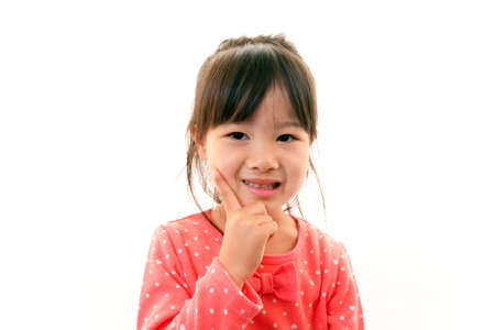 Happy little asian girl smile Stock Photo - 17349048