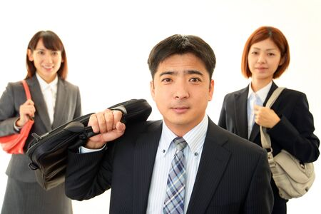 The businessman who goes to work Stock Photo - 17369790