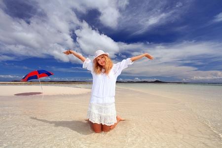 Women enjoy the sun Stock Photo - 17329905