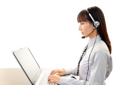 customer services operator Stock Photo - 17329512
