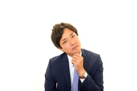 Expression of melancholy businessman Stock Photo - 17349077