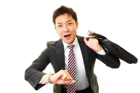 salaried worker: Stressed businessman  Stock Photo