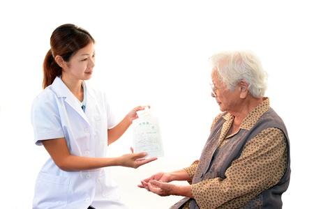 Farmac�utico con un paciente