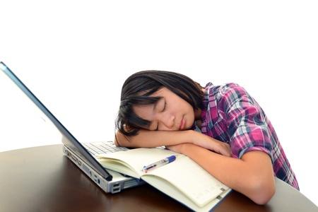 The girl who sleeps Stock Photo - 17404803
