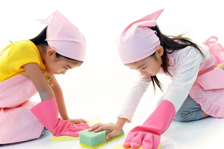 The girls who help with housework Stock Photo - 17492326
