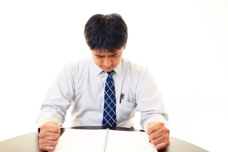 pay cuts: Depressed businessman