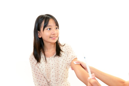 Girls to be vaccinated Stock Photo - 17509408