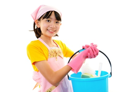 The girl who helps with housework Stock Photo - 17591090