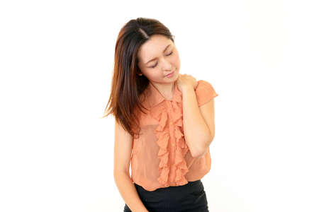 Woman with shoulder neck pain Stock Photo - 17619953