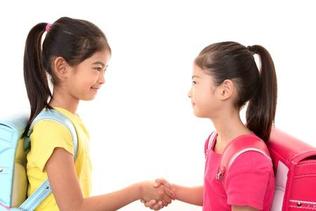 Smiling girls photo