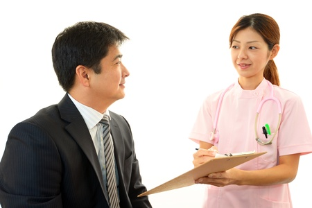 salaried worker: A patient and nurse of the smile