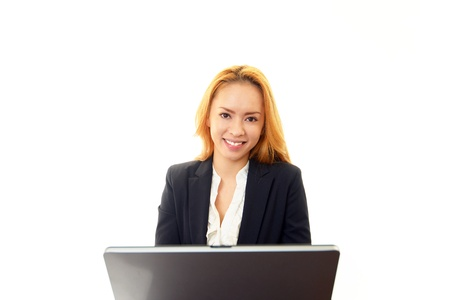 Smiling business woman Stock Photo - 17763923