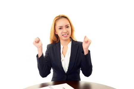 Smiling business woman Stock Photo - 17786222