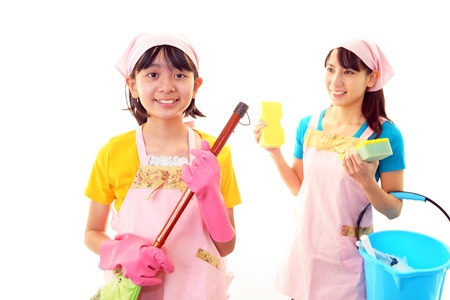 The girls who help with housework Stock Photo - 18023908