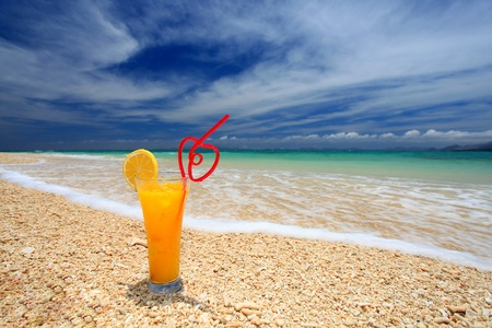 Beautiful beach and drink Stock Photo - 18025789