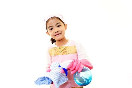 The girl who help with housework Stock Photo - 18064569
