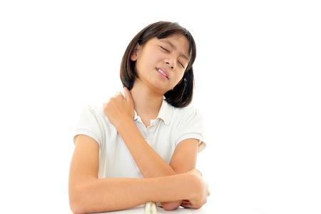 10 代の少女の不安の表情 写真素材