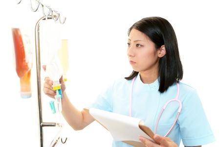 enteritis: Portrait of  Asian female nurse