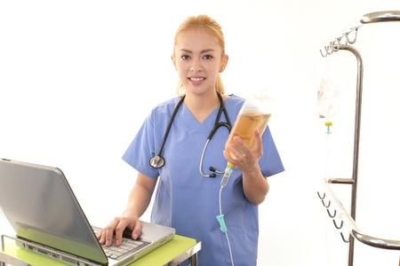 enteritis: Smiling  medical doctor Stock Photo