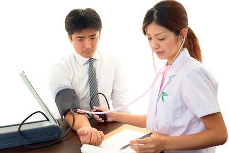 医者と患者検査で 写真素材