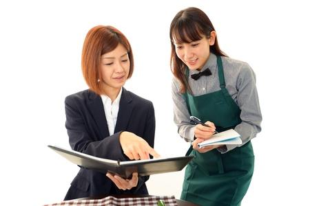 Working waitress Stock Photo - 18233837