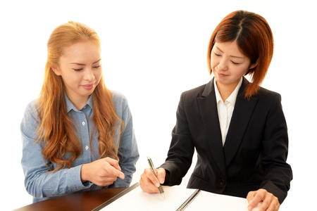 The woman who goes to the English language school Stock Photo - 18231182