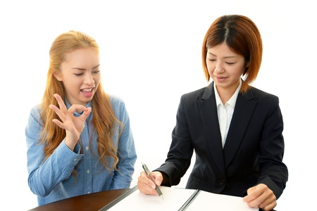 The woman who learns English Stock Photo - 18236019