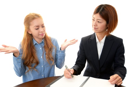 The woman who learns English Stock Photo - 18237241