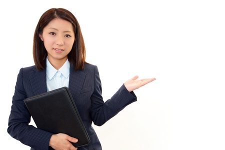 Smiling business woman Stock Photo - 18350019