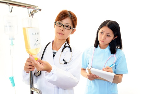 enteritis: The medical staff who works Stock Photo