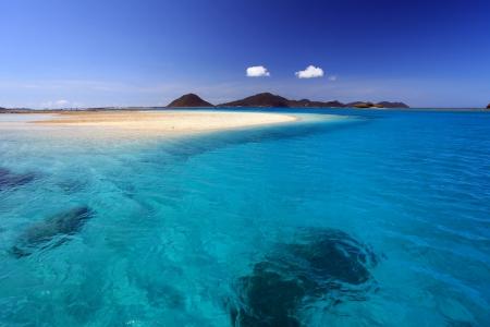 The cobalt blue sea and blue sky of Okinawa