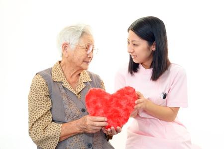 Woman Elderly Lächeln Standard-Bild - 18476558