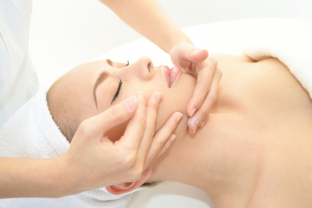 Woman having massage photo