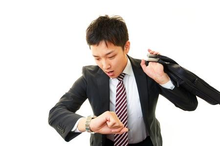 Stressed businessman  免版税图像