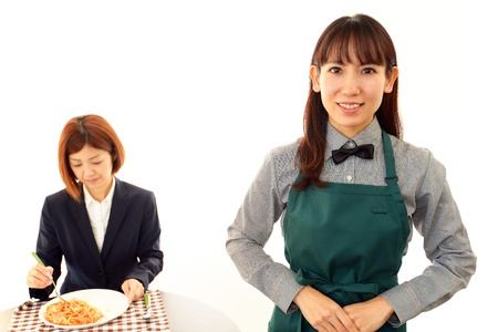 Smiling waitress photo