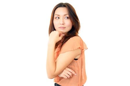 uneasy: Women uneasy look