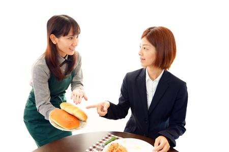 Working waitress  Stock Photo - 18669854