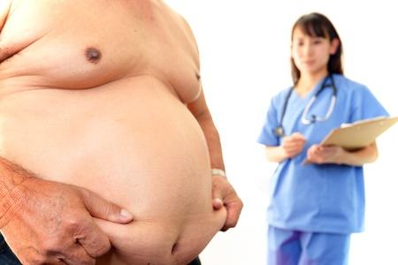 obesidad: Hombre obeso Foto de archivo