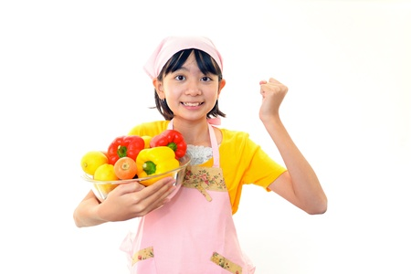 The girl who enjoys cooking photo