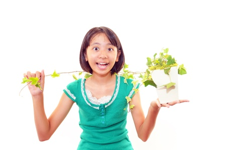 asian house plants: The girls who take care of the plant
