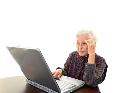 frailty: Senior Lady  with a notebook