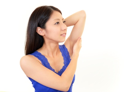 The woman who is doing skin care Stock Photo - 18749065