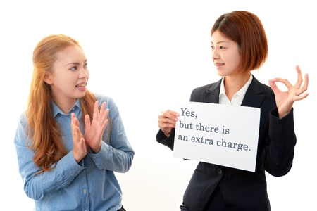 The woman who learns English Stock Photo - 18753145