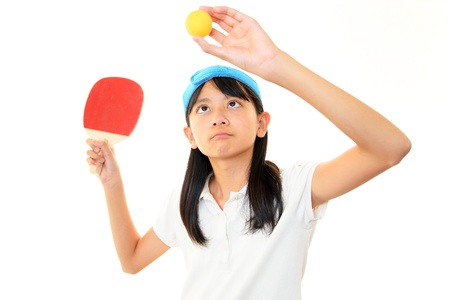 The girl who plays table tennis photo